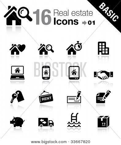 Basic - los iconos de bienes raíces