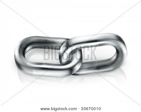Chain link, vector