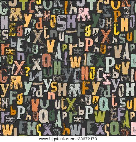 Alphabet seamless background