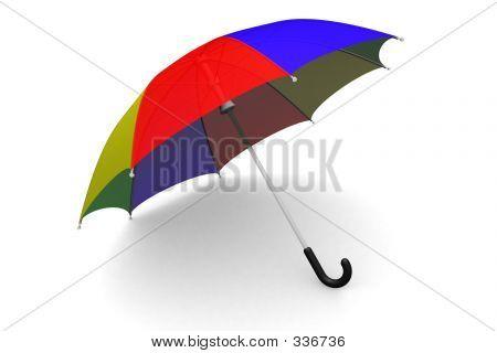 Guarda-chuva no chão