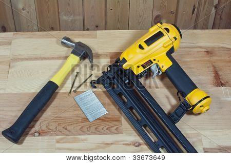 Hammer and nail gun