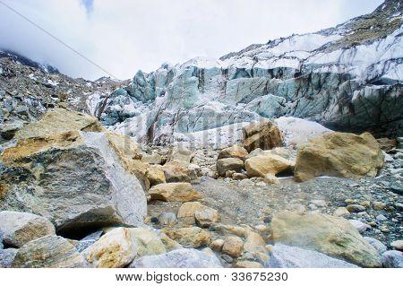Gomukh, source of Ganga .Ice cave.