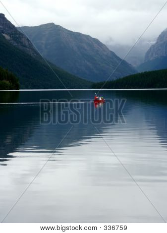 Canoeing On Lake