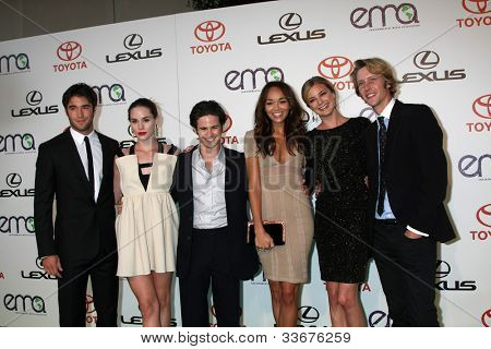 LOS ANGELES - OCT 15:  Joshua Bowman, Christa B. Allen, Connor Paolo, Ashley Madekwe, Emily VanCamp, Gabriel Mann at the 2011 EMA Awards at the WB Studio on October 15, 2011 in Beverly Hills, CA