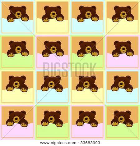 Baby Brown Bear Seamless Pattern