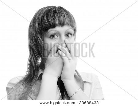 Frightened Young Woman