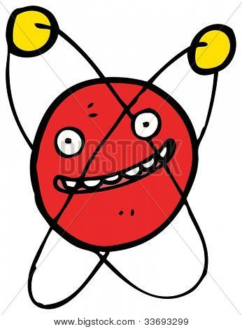 cartoon atom