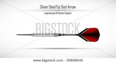 Realistic Steel Tip Dart Arrow | Eps10 Vector Background | Layers Organized and Named