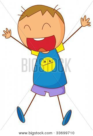 Illustration of an excited kid - EPS VECTOR format also available in my portfolio.
