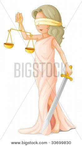 Illustration of blind justice concept - EPS VECTOR format also available in my portfolio.