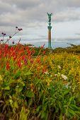 Copenhagen, Denmark: The Ivar Huitfeldt Column Was Built In 1886 To Commemorate The Death Of Admiral poster