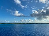 Half Moon Cay/bahamas-10/31/19: The Private Island Of Half Moon Cay In The Bahamas On A Sunny Day Wi poster