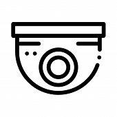 Security Surveillance Camera Icon Vector. Outline Security Surveillance Camera Sign. Isolated Contou poster
