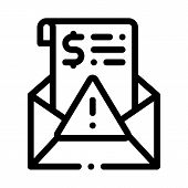 Fake Money Criminal Liability Warning Icon Vector. Outline Fake Money Criminal Liability Warning Sig poster
