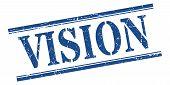 Vision Stamp. Vision Square Grunge Sign. Vision poster