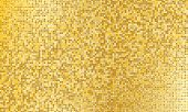 Gold Glitter Texture. Golden Abstract Particles. Sparkle Glitter Background. Vector Illustration. Go poster