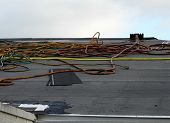 A Secondary Water Resistance Underlayment Of Polymer Has Been Installed During A Roof Replacement. E poster