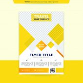 Modern Yellow Brochure Design, Brochure Template, Brochures, Brochure Layout, Brochure Cover, Brochu poster