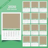 Calendar 2020 Templates In Vecto Design Illustration 15 poster