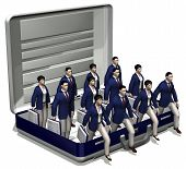 foto of real-estate-team  - 3d cartoon of a group of personnel ready to work - JPG
