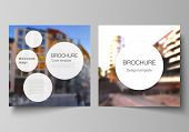 Vector Layout Of Two Square Covers Design Templates For Brochure, Flyer, Magazine, Cover Design, Boo poster