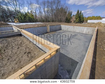 New House Foundation Construction
