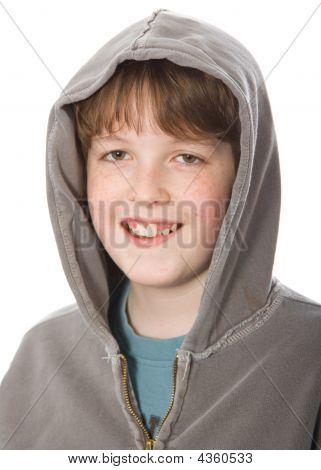 Smiling Boy In A Hoodie