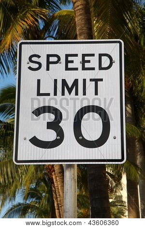 Speed Limit Traffic Sign