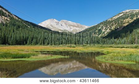 Mount Yale Reflecting In Mountain Lake