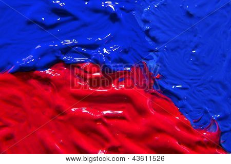 Red And Blue Canvas Background