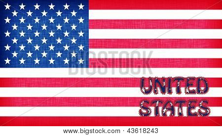 Flag Of The Usa With Letters
