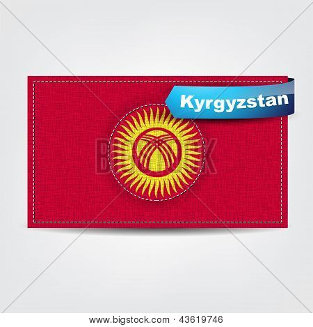Fabric Texture Of The Flag Of Kyrgyzstan