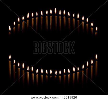 Taper Candles Make Circle