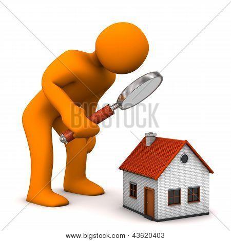 Casa lupa maniquí