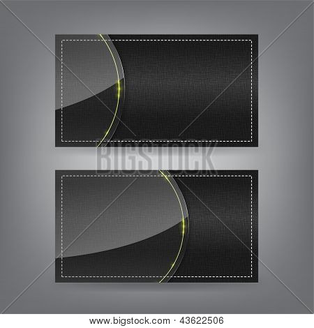 Textile And Neon Glass Theme Business Card Template