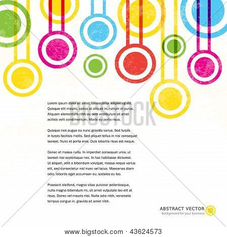 Abstract Grunge Colorful Vector Vintage Background