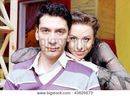 Young Smiling Couple Portrait