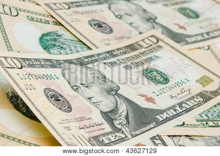 Money Background With Us Dollar Bills