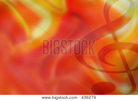 Treble Clef Background Illustration