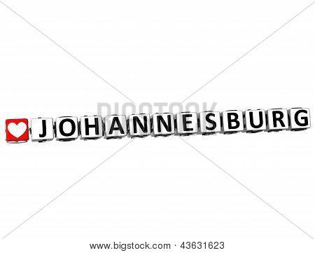 3D Love Johannesburg Button Click Here Block Text