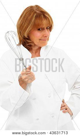 Chef Holding Whisk