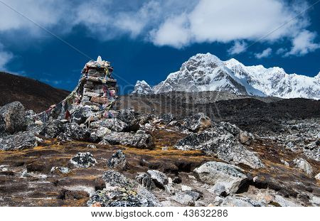 Tombstones Or Chorten For Climber Who Died In Himalayas