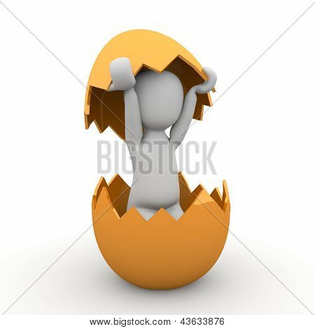 Easter Egg With Shell
