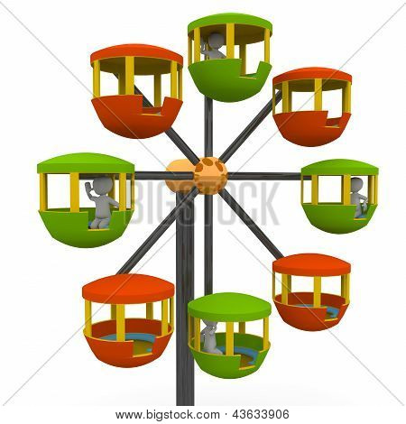 Ferris Wheel At A County