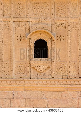 Small Window With Floral Ornament, India