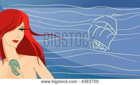 Girl On The Sea