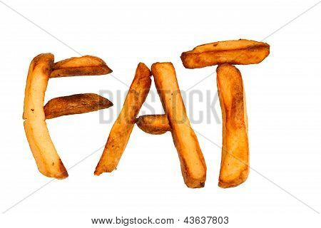 Oven Baked Potato Chips Isolated Spelling Fat