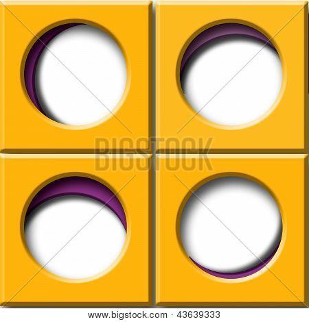Set Orange Square With Circular Window
