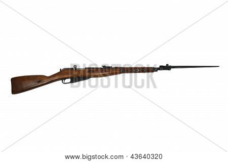 Russian World War 2 Rifle With Bayonet