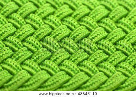 Textura de la tela entretejida verde